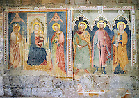Late Medieval Fresco of The Madonna and Child in the Giovanni e Reparata, Lucca, Tunscany, Italy