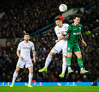 Leeds United's Pablo Hernandez vies for possession with Sheffield Wednesday's Kieran Lee<br /> <br /> Photographer Chris Vaughan/CameraSport<br /> <br /> The EFL Sky Bet Championship - Leeds United v Sheffield Wednesday - Saturday 11th January 2020 - Elland Road - Leeds<br /> <br /> World Copyright © 2020 CameraSport. All rights reserved. 43 Linden Ave. Countesthorpe. Leicester. England. LE8 5PG - Tel: +44 (0) 116 277 4147 - admin@camerasport.com - www.camerasport.com