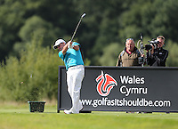 Paul McGinley (IRL) drives from the par 3 13th during Round Three at the 2013 ISPS Handa Wales Open from the Celtic Manor Resort, Newport, Wales. Picture:  David Lloyd / www.golffile.ie