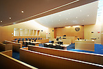 Springfield Ma US Federal District Courthouse Courtroom United States Distict Courthouse in Springfield, MA, designed by Moshe Safdie Architects and built under the management of the Daniel O'Connell Sons, Inc. US Federal District Courthouse in Springfield, MA designed by Moshe Safdie Architects.