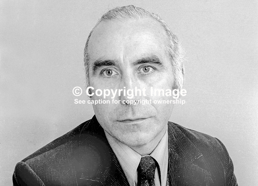 David Bleakley, NILP, candidate, East Belfast, N Ireland Assembly Election June 1973. 197306060348<br />