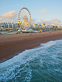 ENGLAND, Brighton, the Beach Big Wheel at Sunset