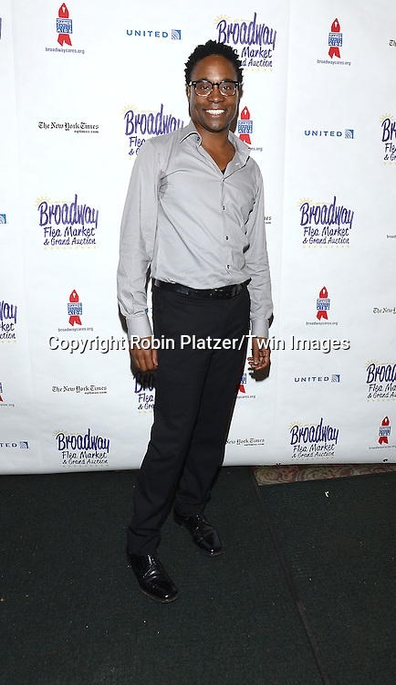 Billy Porter attends the 28th Annual  Broadway Cares/ Equity Fights Aids Flea Market and Auction on September 21,2014 in Shubert Alley in New York City. <br /> <br /> photo by Robin Platzer/Twin Images<br />  <br /> phone number 212-935-0770