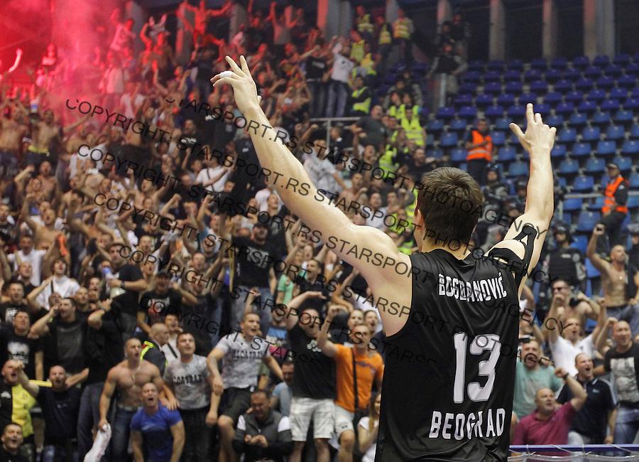 Kosarka play off final game 4<br /> Crvena Zvezda v Partizan<br /> Bogdan Bogdanovic celebrates new title<br /> Belgrade, 06.21.2014.<br /> foto: Srdjan Stevanovic/Starsportphoto &copy;