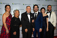 From left to right: Michelle Lacamoire, Maria Lacamoire, Alfredo Lacamoire, Alex Lacamoire, Illeana Ferreras and Juan-Torres Falcon arrive for the formal Artist's Dinner honoring the recipients of the 41st Annual Kennedy Center Honors hosted by United States Deputy Secretary of State John J. Sullivan at the US Department of State in Washington, D.C. on Saturday, December 1, 2018. The 2018 honorees are: singer and actress Cher; composer and pianist Philip Glass; Country music entertainer Reba McEntire; and jazz saxophonist and composer Wayne Shorter. This year, the co-creators of Hamilton, writer and actor Lin-Manuel Miranda, director Thomas Kail, choreographer Andy Blankenbuehler, and music director Alex Lacamoire will receive a unique Kennedy Center Honors as trailblazing creators of a transformative work that defies category.<br /> CAP/MPI/RS<br /> &copy;RS/MPI/Capital Pictures