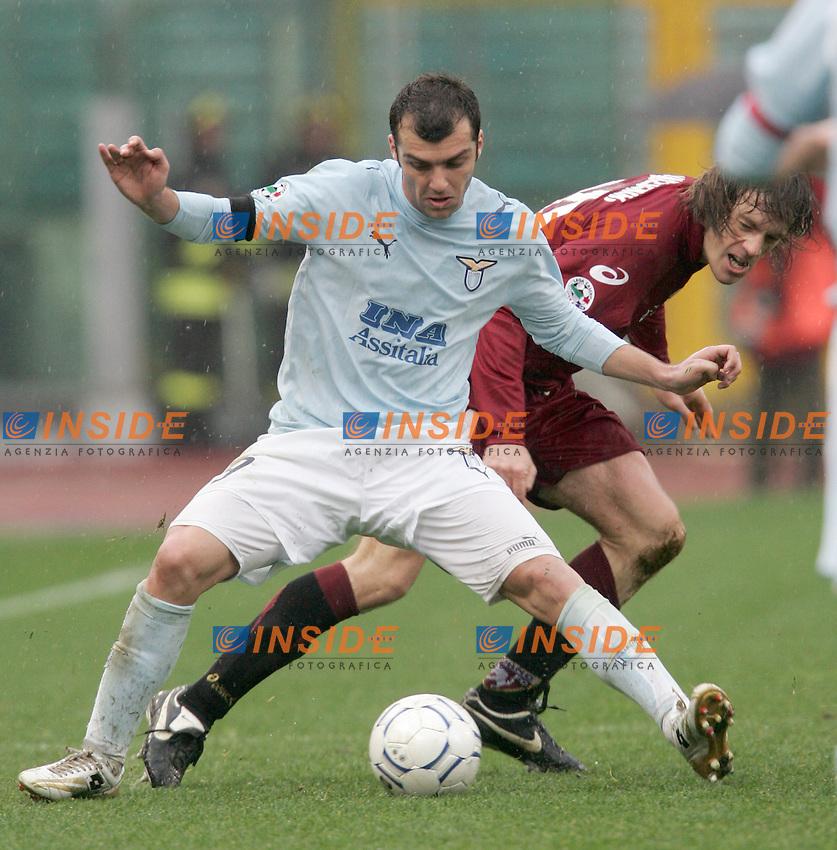 Goran Pandev (Lazio), Ivan Franceschini (Torino)<br /> Italian &quot;Serie A&quot; 2006-07<br /> 18 Feb 2007 (Match Day 24)<br /> Lazio-Torino (2-0)<br /> &quot;Olimpico&quot;-Stadium-Roma-Italy<br /> Photographer: Andrea Staccioli INSIDE