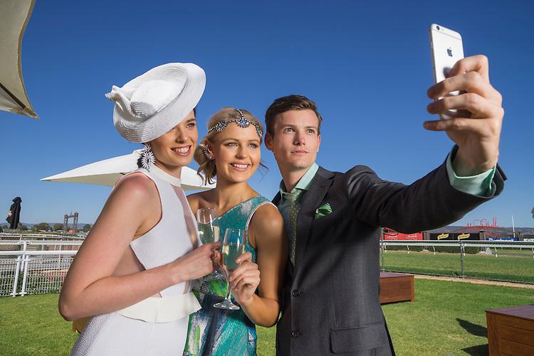 The Races South Australia , Fashion Photoshoot Morphettville racecourse . Photo: Nick Clayton