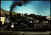 D&amp;RGW #480 K-36 on turntable at Durango.<br /> D&amp;RGW  Durango, CO