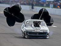 Sep 28, 2013; Madison, IL, USA; NHRA pro mod driver Danny Rowe during qualifying for the Midwest Nationals at Gateway Motorsports Park. Mandatory Credit: Mark J. Rebilas-