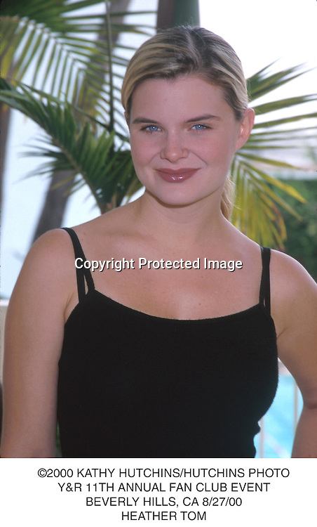 ©2000 KATHY HUTCHINS/HUTCHINS PHOTO.Y&R 11TH ANNUAL FAN CLUB EVENT.BEVERLY HILLS, CA 8/27/00.HEATHER TOM