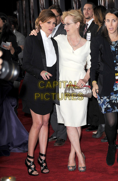 DECEMBER 16 - LOS ANGELES, CA - Meryl Streep and Julia Roberts arrives at  The Weinstein Company L.A. Premiere of August : Osage County held at The Premiere House at Regal Cinemas L.A. Live  in Los Angeles, California on December 16,2013 <br /> CAP/DVS<br /> &copy;DVS/Capital Pictures