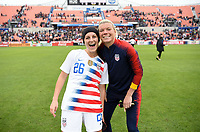 Houston, TX - Sunday April 8, 2018: Haley Hanson, Jane Campbell during an International friendly match versus the women's National teams of the United States (USA) and Mexico (MEX) at BBVA Compass Stadium.