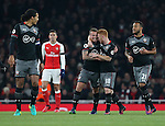 Southampton's Jordy Clasie celebrates scoring his sides opening goal during the EFL Cup match at the Emirates Stadium, London. Picture date October 30th, 2016 Pic David Klein/Sportimage