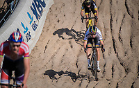 Wout Van Aert (BEL/Crelan-Charles) in the infamous Zonhoven 'Kuil' (or 'Pit')<br /> <br /> Elite Men's Race<br /> CX Super Prestige Zonhoven 2017