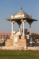 Jaipur, Rajasthan, India.  Sawai Jai Singh Traffic Circle, in honor of the founder of Jaipur.