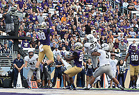 Drew Sample rises to catch a touchdown on a busted play in the third quarter.