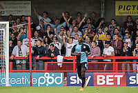 Fans during the Sky Bet League 2 match between Crawley Town and Wycombe Wanderers at Checkatrade.com Stadium, Crawley, England on 29 August 2015. Photo by Liam McAvoy.