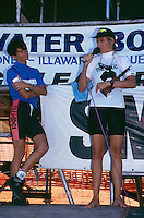 Pam Burridge (AUS) 1st and  Jodie Cooper 2nd (AUS) New South Wales early 1990's.Photo:  joliphotos.com