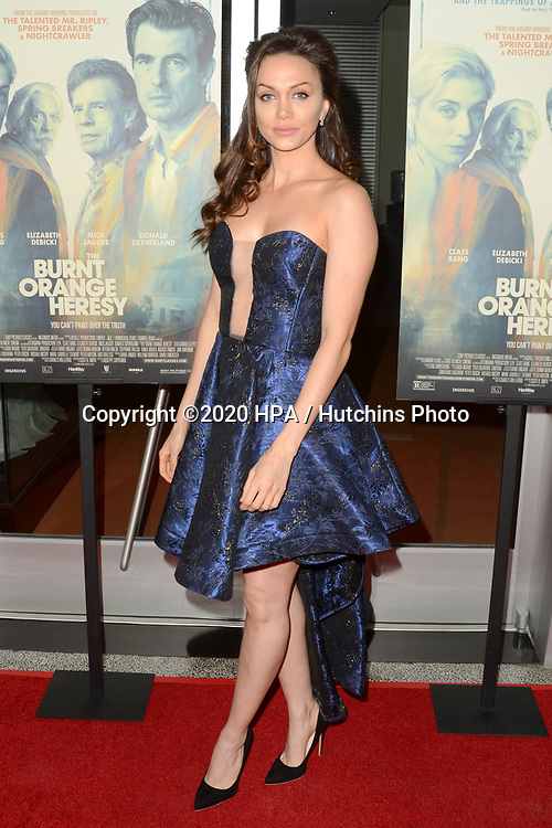 """LOS ANGELES - MAR 2:  Layla Louise at the """"The Burnt Orange Heresy"""" Special Screening at the Linwood Dunn Theater on March 2, 2020 in Los Angeles, CA"""