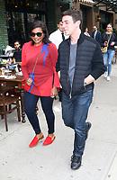 www.acepixs.com<br /> <br /> April 27 2017, New York City<br /> <br /> Actors Mindy Kaling (L) and B. J. Novak walk together in the East Village on April 27 2017 in New York City<br /> <br /> By Line: Zelig Shaul/ACE Pictures<br /> <br /> <br /> ACE Pictures Inc<br /> Tel: 6467670430<br /> Email: info@acepixs.com<br /> www.acepixs.com