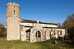 All Saints church and churchyard, South Elmham All Saints, Suffolk, England, UK