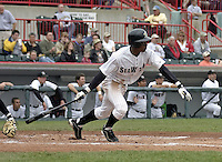 May 11, 2004:  Curtis Granderson of the Erie Seawolves, Eastern League (AA) affiliate of the Detroit Tigers, during a game at Jerry Uht Park in Erie, PA.  Photo by:  Mike Janes/Four Seam Images