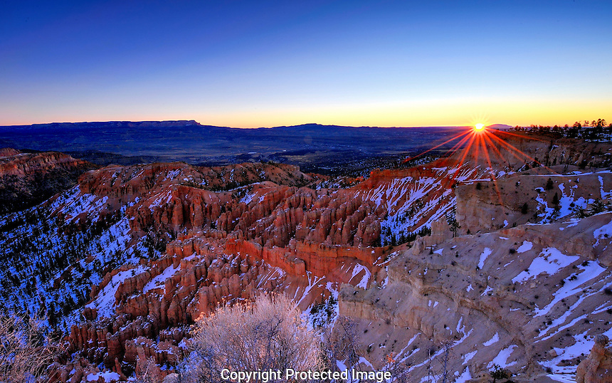 """Sunrise from """"Bryce Point"""" Utah's Bryce Canyon National Park"""