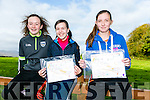 At the Kerry ETB orienteering event in Ballyseedy Wood on Tuesday were Katelyn Stack, Carol Trainer, Abbie Quilter from Causeway Comprehensive School