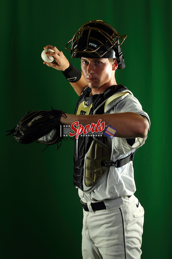 Brett Armour (6) poses during a photo session at Wake Forest Baseball Park on January 15, 2013 in Winston-Salem, North Carolina.    (Brian Westerholt/Sports On Film)