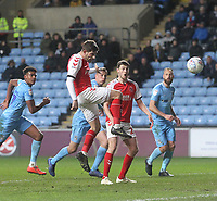 Fleetwood Town's Ched Evans scores his sides first goal  <br /> <br /> Photographer Mick Walker/CameraSport<br /> <br /> The EFL Sky Bet League One - Coventry City v Fleetwood Town - Tuesday 12th March 2019 - Ricoh Arena - Coventry<br /> <br /> World Copyright © 2019 CameraSport. All rights reserved. 43 Linden Ave. Countesthorpe. Leicester. England. LE8 5PG - Tel: +44 (0) 116 277 4147 - admin@camerasport.com - www.camerasport.com