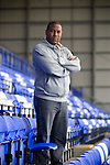 Former Liverpool and England winger John Barnes, pictured on the Kop at Prenton Park, Birkenhead, home of Tranmere Rovers football club, where he is currently the manager.