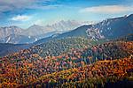 Tatry, 2010-10-10. Jesienna panorama Tatr - widok z Kościeliska, Zakopane