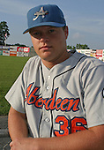 August 16, 2003:  Jason Cierlik of the Aberdeen Ironbirds, Class-A affiliate of the Baltimore Orioles, during a game at Falcon Park in Auburn, NY.  Photo by:  Mike Janes/Four Seam Images