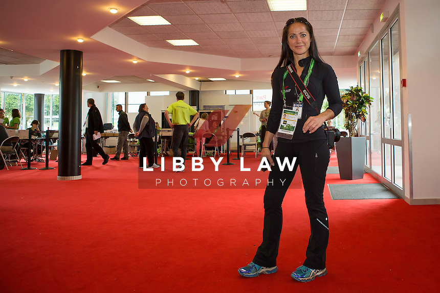 THE WEG-JEWELLERY IS ON (Lanyard & Accred): LET'S GO: The Alltech FEI World Equestrian Games<br /> 2014 In Normandy - France CREDIT: Libby Law COPYRIGHT: LIBBY LAW PHOTOGRAPHY - NZL