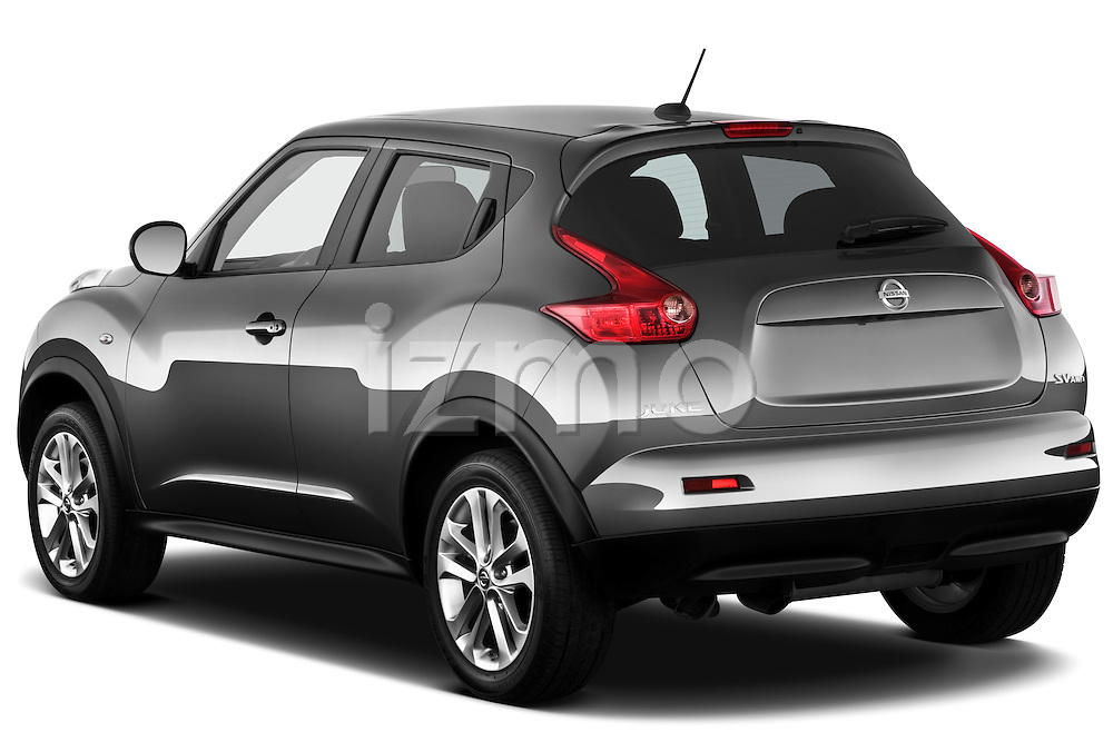 Rear Three Quarter View 2011 Nissan Juke SV SUV Stock Photo
