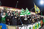 S&ouml;dert&auml;lje 2014-04-07 Fotboll Superettan Assyriska FF - Hammarby IF :  <br /> Hammarby supportrar &auml;r glada efter matchen<br /> (Foto: Kenta J&ouml;nsson) Nyckelord:  Assyriska AFF S&ouml;dert&auml;lje Hammarby HIF Bajen supporter fans publik supporters glad gl&auml;dje lycka leende ler le