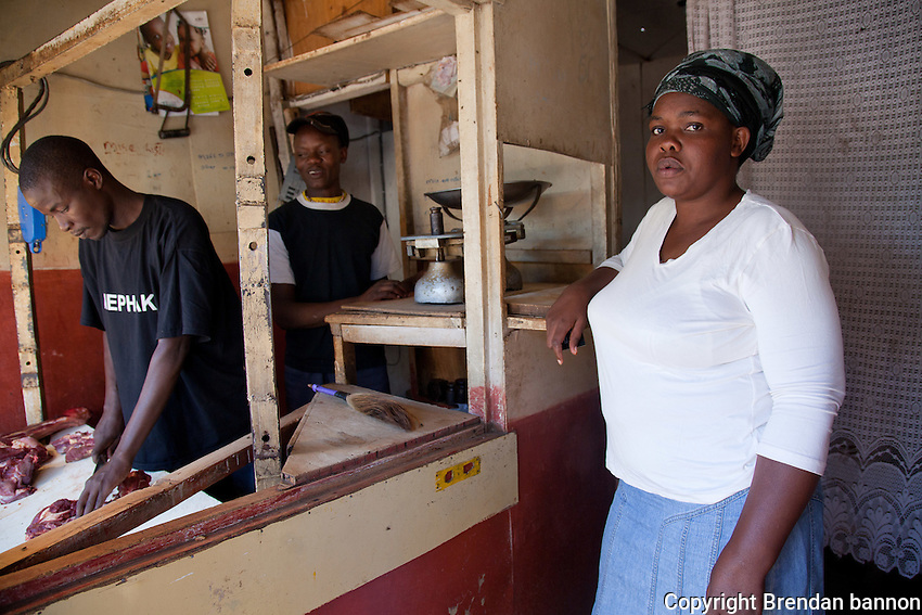 "Elizabeth Okumu, 34, has plans to grow her butcher's shop serving the residents of Nairobi's Kibera slum, to 'refine' its appeal to its customers. ""Maybe I will add some extra seating's, maybe even open another outlet in another slum. Why not?"""