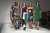 London, UK. 13 September 2014. Models walk the runway at the Jasper Conran show at London Fashion Week SS15 at the BFC Courtyard Show Space in London, England. Photo: CatwalkFashion/Alamy Live News
