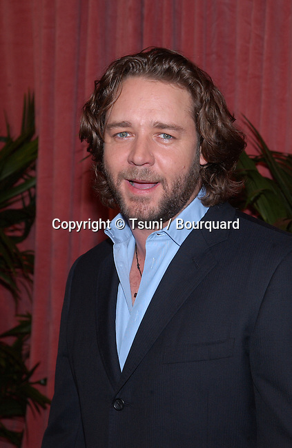 "Russell Crowe, nominated for best actor for ""A Beautiful Mind,"" arrives at the nominees luncheon for the 74th Annual Academy Awards at the Beverly Hilton Hotel in Beverly Hills, CA., Monday, March 11, 2002."
