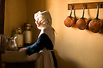Mannequin in kitchen of historical Hotel Dieu Beaune