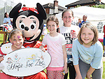 Sophie Fox, Jessica Boyle, Nicole Parsons and Erin Fitzpatrick at the Hope For Zoe family funday fundraiser in the Rugby Club. Photo:Colin Bell/pressphotos.ie