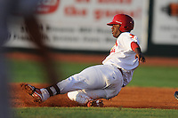 Johnson City Cardinals third baseman Roberto De La Cruz #31 slides into second during a game against the Greeneville Astros at Howard Johnson Field on July 13, 2011 in Johnson City, Tennessee.  Greeneville won the game 7-4.   (Tony Farlow/Four Seam Images)