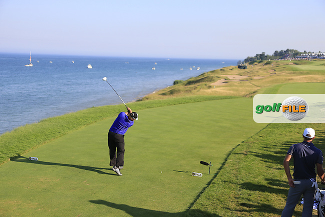 JB HOLMES (USA) tees off the 16th tee during Saturday's Round 3 of the 97th US PGA Championship 2015 held at Whistling Straits, Mosel, Kohler, Wisconsin, United States of America. 15/08/2015.<br /> Picture Eoin Clarke, www.golffile.ie
