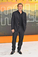 """LONDON, ENGLAND - JULY 30: Brad Pitt at the """"Once Upon A Time In ... Hollywood"""" UK film premiere, Odeon Luxe Leicester Square, Leicester Square, on Tuesday 30 July 2019 in London, England, UK.<br /> CAP/CAN<br /> ©CAN/Capital Pictures"""