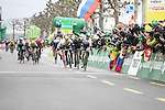 Michael Albasini (SUI) Orica-GreenEdge wins Stage 5 of the 2016 Tour de Romandie, running 172km from Ollon to Geneve, Switzerland. 1st May 2016.<br /> Picture: Heinz Zwicky | Newsfile<br /> <br /> <br /> All photos usage must carry mandatory copyright credit (© Newsfile | Heinz Zwicky)