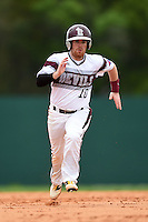 University of the Sciences Devils second baseman Derek DeMaria (10) running the bases during a game against Slippery Rock on March 6, 2015 at Jack Russell Memorial Stadium in Clearwater, Florida.  Slippery Rock defeated University of the Sciences 6-3.  (Mike Janes/Four Seam Images)