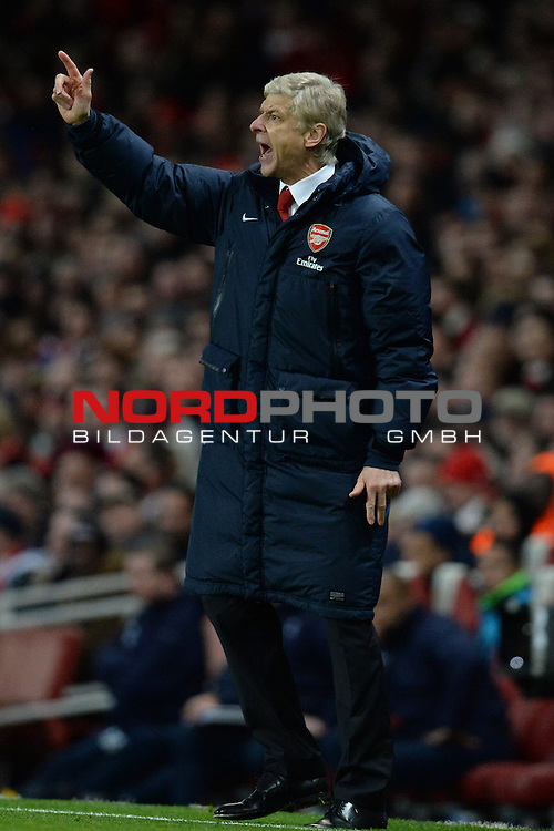 Arsenal Manager, Arsene Wenger   04/01/2014 - SPORT - FOOTBALL - Emirates Stadium - London - Arsenal v Tottenham Hotspur - FA Cup - Third Round<br /> Foto nph / Meredith<br /> <br /> ***** OUT OF UK *****