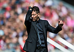 Coach Diego Simeone of Atletico de Madrid reacts during the La Liga 2017-18 match between Atletico de Madrid and Sevilla FC at the Wanda Metropolitano on 23 September 2017 in Wanda Metropolitano, Madrid, Spain. Photo by Diego Gonzalez / Power Sport Images