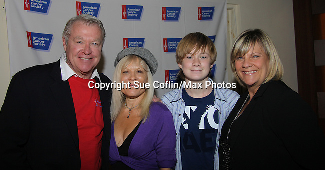"""NOTE: """"Shane is Echo and Clint's Grandson"""" not """"Roxy's"""" - Jerry verDorn, Austin Williams and Kim Zimmer at The Seventh Annual Daytime Stars and Strikes benefitting The American Cancer Society hosted by Elizabeth Keifer and Jerry VerDorn with actors from One Life To Live, All My Children, As The World Turns and Guiding Light on October 9, 2010 in New York City, New York. (Photo by Sue Coflin/Max Photos)"""