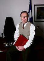 1997 Official photo session of Andre Boulerice in his office